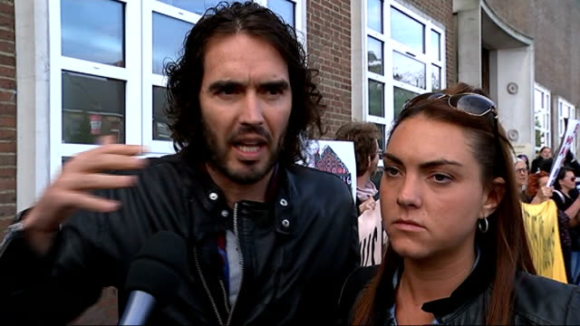 Russell Brand joins group of single mothers fighting eviction Russell Brand interview SOT What I'm saying is there is a London wide effort to...