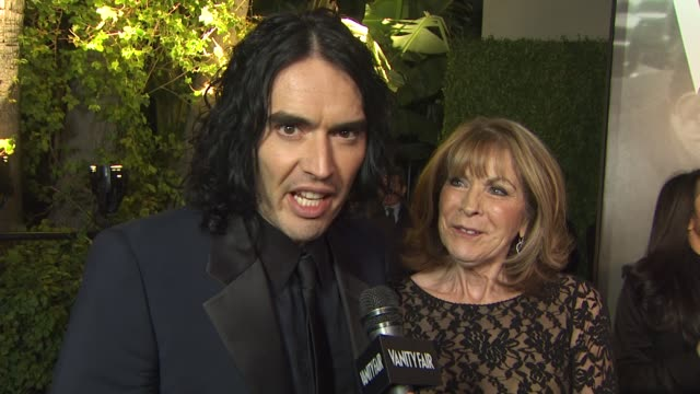 Russell Brand Juliet Elizibeth Brand at the 2011 Vanity Fair Oscar Party Arrivals at Hollywood CA
