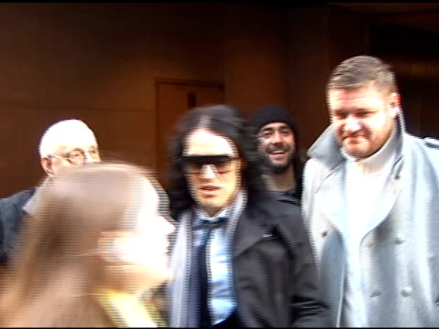Russell Brand leaves the 'Today Show' and greets his fans in New York 03/30/11