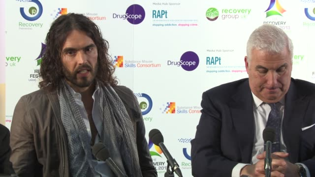 Russell Brand on addressing why people become addicted at the Launch of the AntiAddiction Initiative on the 12th of March 2013