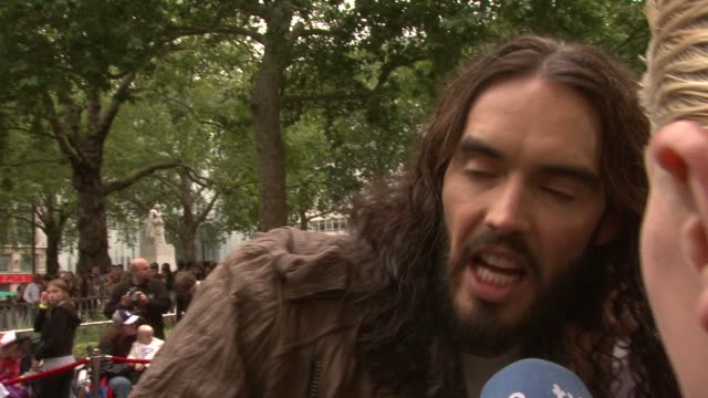 Russell Brand on what roles he would like to play next at Rock Of Ages European Film Premiere at Leicester Square on June 10 2012 in London England