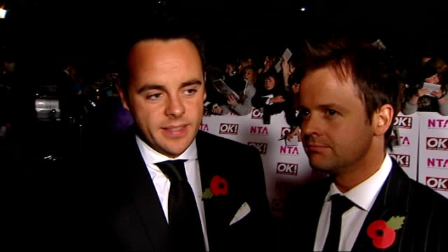 stockvideo's en b-roll-footage met russell brand resigns and jonathan ross suspended over prank call row anthony mcpartlin and declan donnelly interview sot think the whole affair is... - declan donnelly