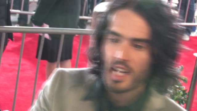 Russell Brand signs at The Tempest Premiere in Hollywood at the Celebrity Sightings in Los Angeles at Los Angeles CA