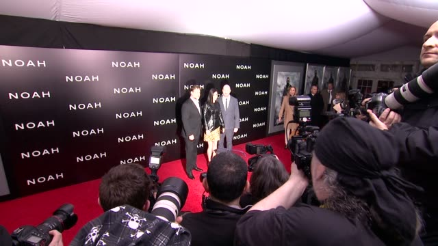 russell crow jennifer connelly and darren aronofsky at noah new york premiere arrivals at ziegfeld theater on march 26 2014 in new york city - darren aronofsky stock videos and b-roll footage