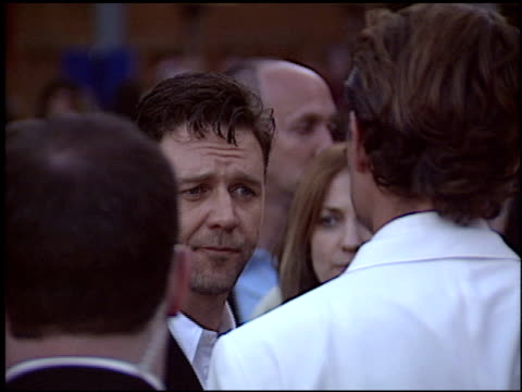 russell crowe at the 'cinderella man' premiere at gibson amphitheatre in universal city, california on may 23, 2005. - russell crowe stock videos & royalty-free footage