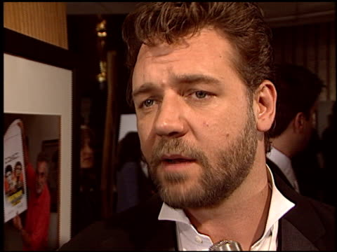 russell crowe at the 'master and commander' los angeles premiere at academy theater in beverly hills california on november 11 2003 - russell crowe stock videos & royalty-free footage