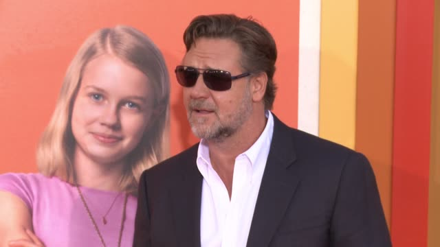 russell crowe at the nice guys los angeles premiere at tcl chinese theatre on may 10 2016 in hollywood california - russell crowe stock videos & royalty-free footage
