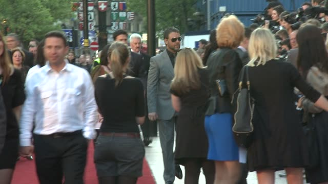 russell crowe at the state of play world premiere at london . - russell crowe stock videos & royalty-free footage