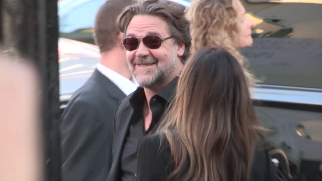 russell crowe at the water diviner premiere after party in hollywood in celebrity sightings in los angeles - russell crowe stock videos & royalty-free footage