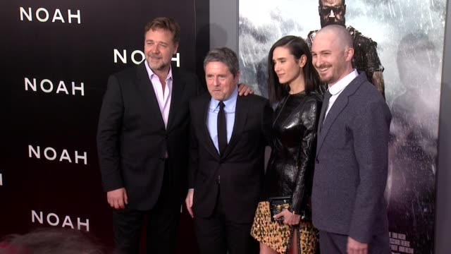 russell crowe brady grey jennifer connelly and darren aronofsky at noah new york premiere arrivals at ziegfeld theater on march 26 2014 in new york... - darren aronofsky stock videos and b-roll footage