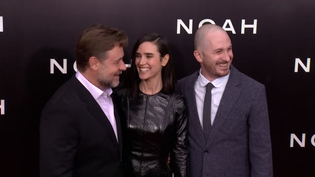 russell crowe jennifer connelly and darren aronofsky at noah new york premiere arrivals at ziegfeld theater on march 26 2014 in new york city - darren aronofsky stock videos and b-roll footage