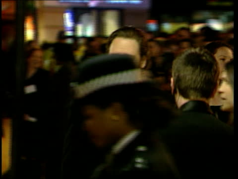 russell crowe kidnap attempt lib london crowe arriving at bafta awards ceremony pan crowe across to press - russell crowe stock videos & royalty-free footage
