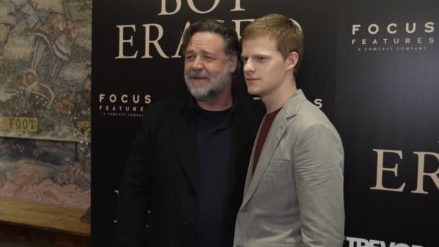 russell crowe lucas hedges at boy erased new york special screening presented by focus features at the whitby theater on october 22 2018 in new york... - russell crowe stock videos & royalty-free footage