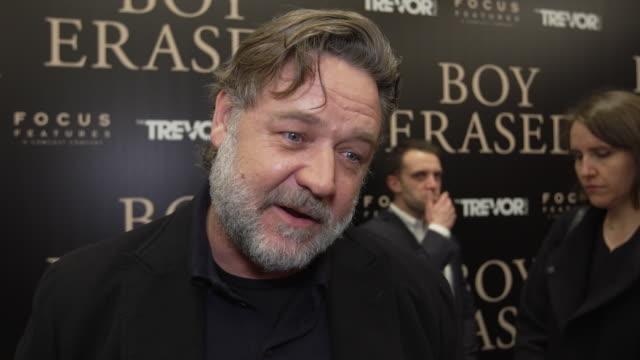 interview russell crowe on why he wanted to be in this film on the character that he plays on the challenges he faced while making this movie on the... - russell crowe stock videos & royalty-free footage