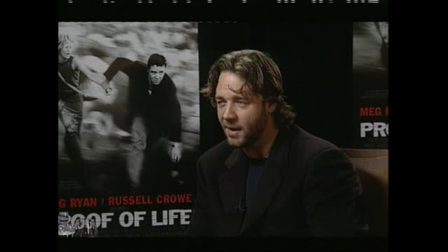 russell crowe speaking about life at home on his farm in 2001 during interview with host paul holmes - russell crowe stock videos & royalty-free footage