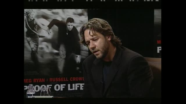 vidéos et rushes de russell crowe speaking about the divorce of tom cruise and nicole kidman in 2001 during interview with host paul holmes - tom cruise