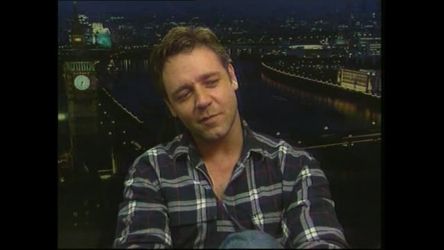 Russell Crowe speaking in 2000 about his career path and his background during satellite interview with host Paul Holmes
