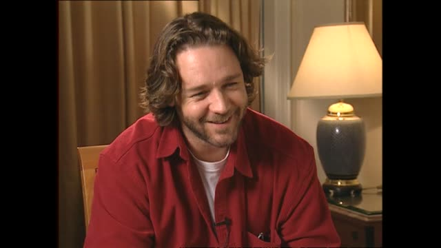 russell crowe speaking in 2002 about his acting success and accolades during interview with host paul holmes - russell crowe stock videos & royalty-free footage