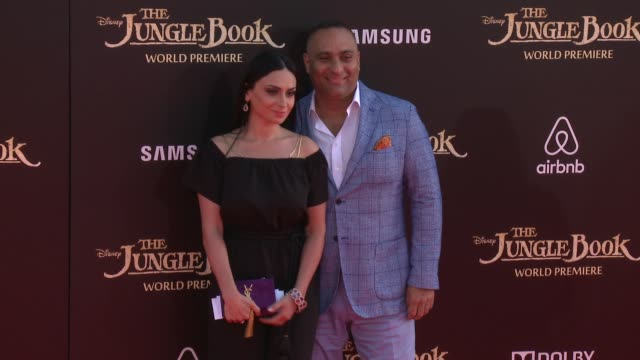 """russell peters at disney's """"the jungle book"""" los angeles premiere at the el capitan theatre on april 04, 2016 in hollywood, california. - el capitan theatre stock videos & royalty-free footage"""