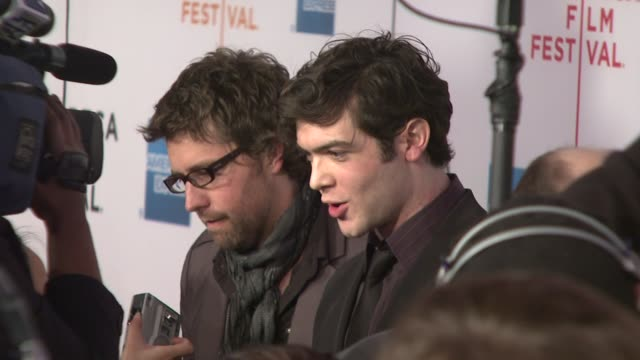 "russell schaumburg and ethan peck at the 7th annual tribeca film festival - ""tennessee"" premiere at borough of manhattan community college / tribeca... - community college stock videos & royalty-free footage"