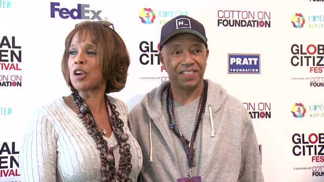 russell simmons and gayle king at 2013 global citizen festival in central park to end extreme poverty on in new york ny - gayle king stock videos & royalty-free footage