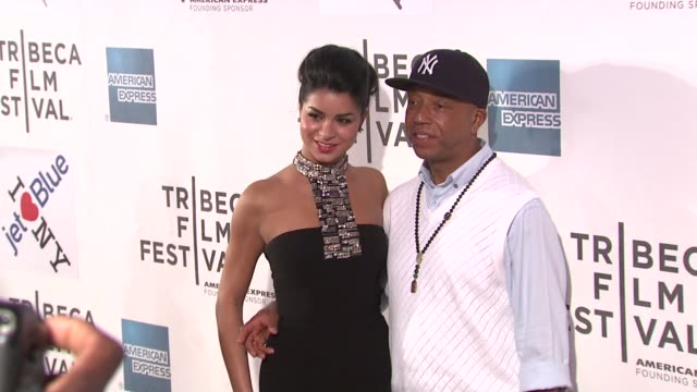 vídeos y material grabado en eventos de stock de russell simmons and guest at the 2011 tribeca film festival premiere of 'last night' at new york ny - russell simmons