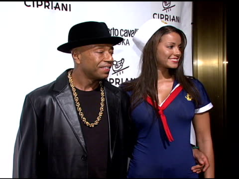 russell simmons and guest at the roberto cavalli vodka and giuseppe cipriani celebrate halloween at cipriani 42nd street in new york, new york on... - russell simmons stock videos & royalty-free footage