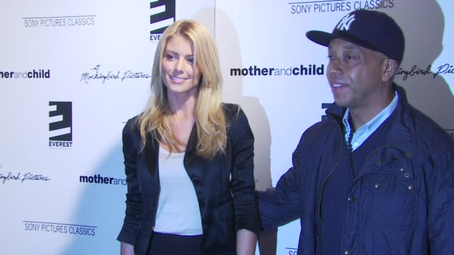 Russell Simmons and Paige Butcher at the 'Mother And Child' New York Premiere at New York NY