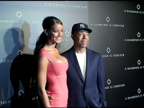 Russell Simmons and Porschla Coleman at the Diamond Information Center at Chateau Marmont in West Hollywood California on February 22 2008