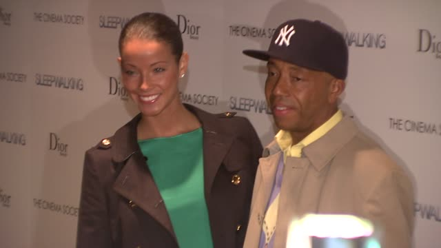 "russell simmons and porschla coleman at the premiere of ""sleepwalking"" at the tribeca grand screening room in new york, new york on march 11, 2008. - russell simmons stock videos & royalty-free footage"