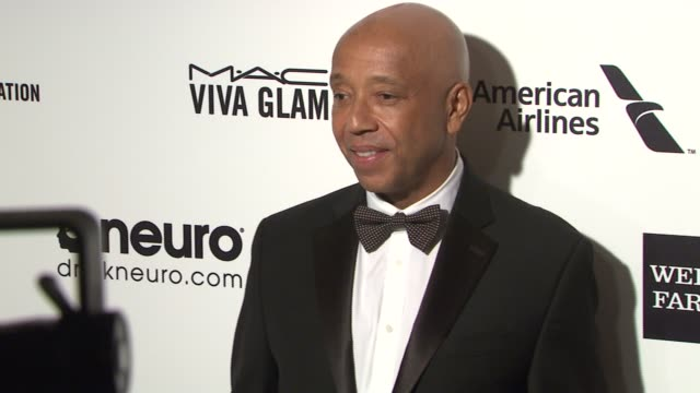 russell simmons at 23rd annual elton john aids foundation academy awards viewing party sponsored by chopard, neuro drinks and wells fargo on february... - russell simmons stock videos & royalty-free footage