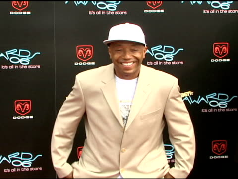 russell simmons at the 2006 bet awards arrivals at the shrine auditorium in los angeles california on june 27 2006 - russell simmons stock videos & royalty-free footage