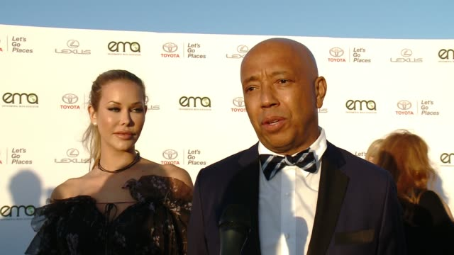 interview russell simmons at the 27th annual environmental media association awards at barker hangar on september 23 2017 in santa monica california - barker hangar stock videos & royalty-free footage