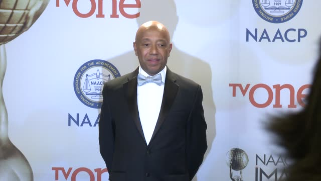russell simmons at the 46th annual naacp image awards press room at pasadena civic auditorium on february 06 2015 in pasadena california - pasadena civic auditorium stock videos & royalty-free footage