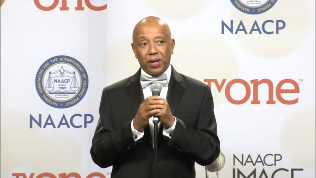 vidéos et rushes de speech russell simmons at the 46th annual naacp image awards press room at pasadena civic auditorium on february 06 2015 in pasadena california - pasadena civic auditorium