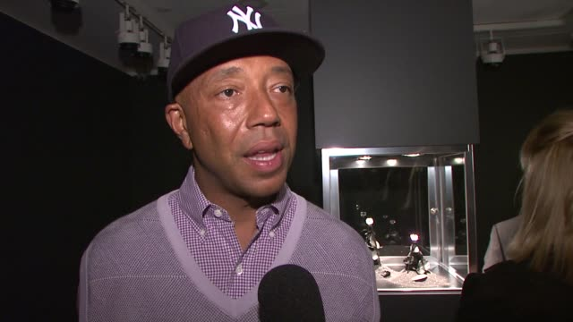 Russell Simmons at the Christie's Previews the Ponahalo Diamonds Before Auction at New York NY