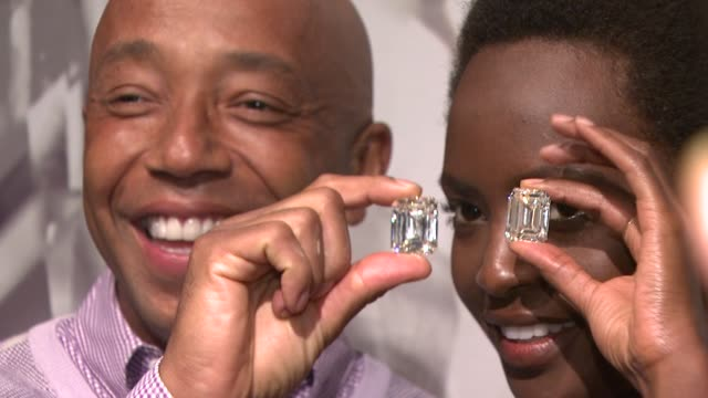 russell simmons at the christie's previews the ponahalo diamonds before auction at new york ny. - russell simmons stock videos & royalty-free footage