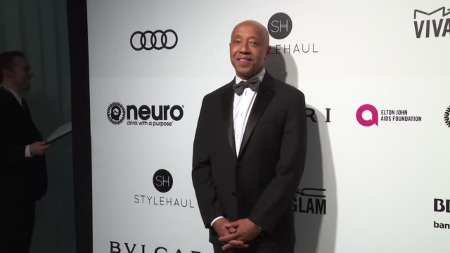 russell simmons at the elton john aids foundation presents the 25th annual academy awards viewing party on february 26, 2017 in west hollywood,... - russell simmons stock videos & royalty-free footage