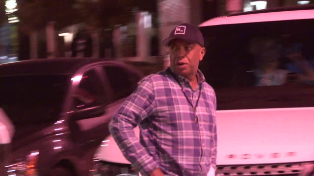 russell simmons departing from craigs in west hollywood in celebrity sightings in los angeles, - russell simmons stock videos & royalty-free footage