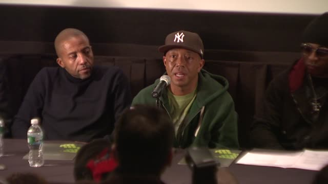 russell simmons discusses what globalgrind.com involves and its editorial purpose. at the russell simmons announces his new daytime job at press... - editorial stock videos & royalty-free footage