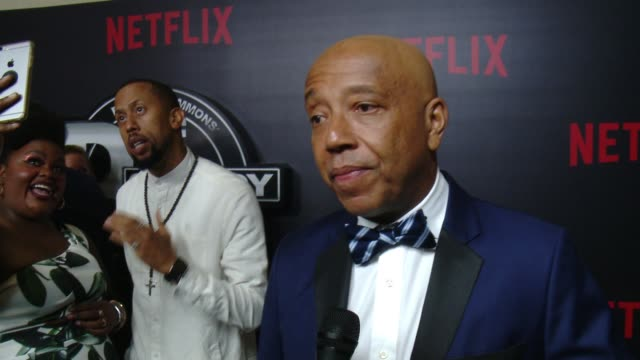 interview russell simmons on the influence and impact of def comedy jam how stand up comedy has changed over the years tonight's event at netflix... - russell simmons stock videos & royalty-free footage
