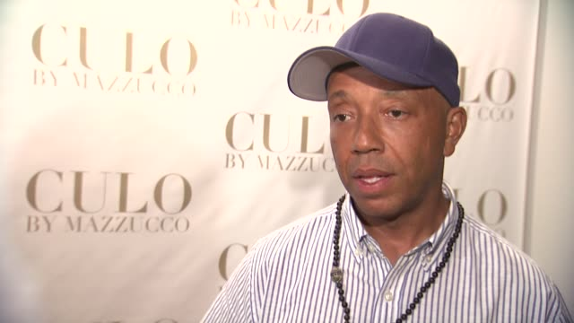 russell simmons on what he hopes to see tonight at the 'culo by mazzucco' launch at new york ny - russell simmons stock videos & royalty-free footage