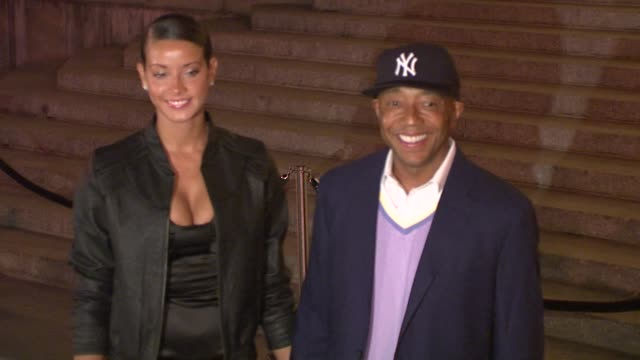 russell simmons, porscha coleman at the 7th annual tribeca film festival - vanity fair party at new york ny. - russell simmons stock videos & royalty-free footage
