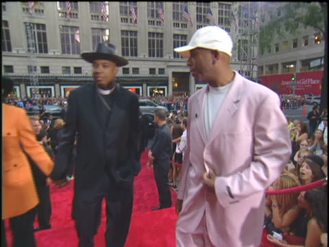 Russell Simmons Rev Run and Justine Simmons Arriving to the 2003 MTV Video Music Awards Red Carpet