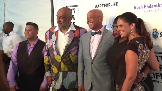 CHYRON Russell Simmons RUSH Philanthropic Arts Foundation's 2016 ART FOR LIFE Benefit at Fairview Farms on July 16 2016 in Bridgehampton New York