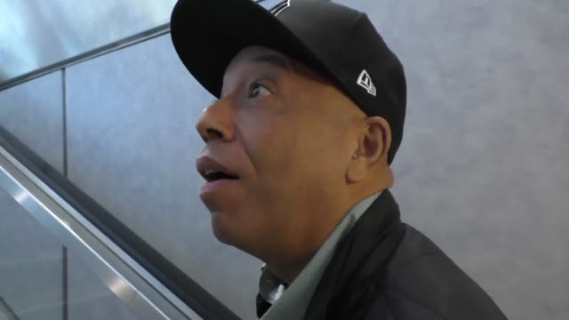 INTERVIEW Russell Simmons talks about his Rush Foundation while departing at LAX Airport in Los Angeles in Celebrity Sightings in Los Angeles