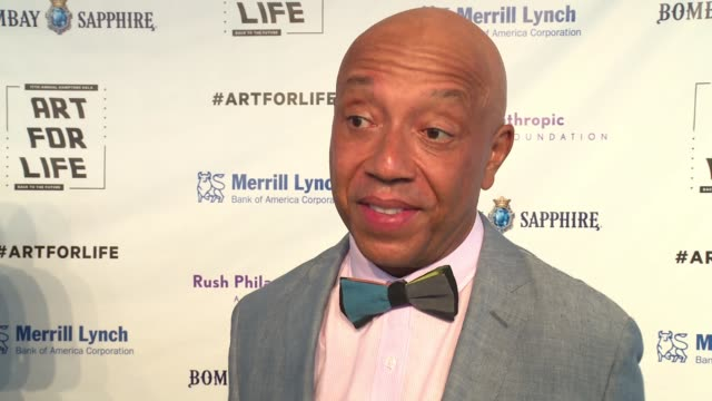 INTERVIEW Russell Simmons talks about this being the 17th year of the Art for Life Gala and how important this foundation is for the arts community...