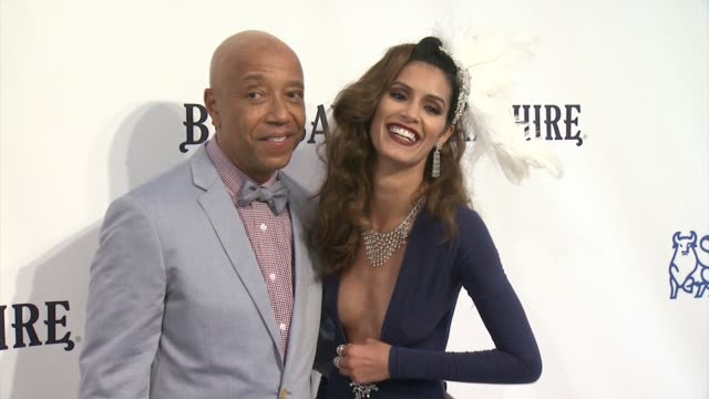 russell simons and jaslene gonzalez at russell simmons rush philanthropic arts foundation to celebrate 20th anniversary at annual art for life... - bridgehampton stock videos & royalty-free footage
