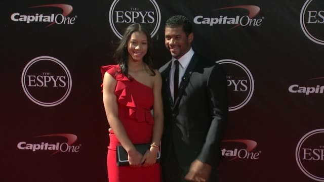 russell wilson at the 2014 espy awards in los angeles ca - espy awards stock videos & royalty-free footage