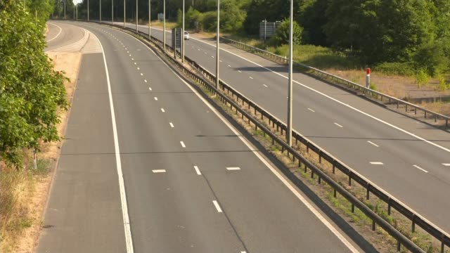 England beat Sweden to reach semifinals ENGLAND M1 EXT Few cars along nearly deserted M1 motorway during England v Sweden match